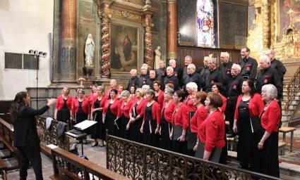 Le choeur mixte Arraga en concert dans l'église de Cambo