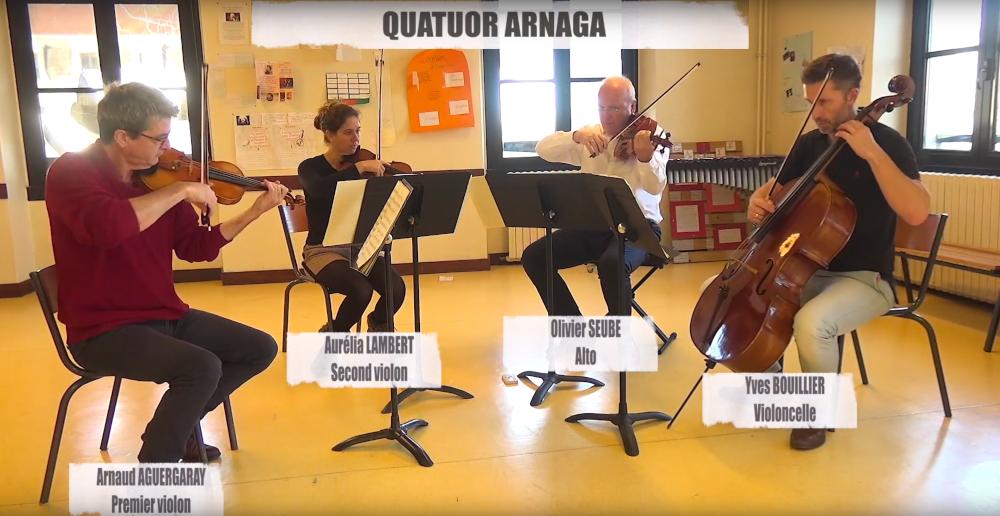 Le Quatuor Arnaga sera aussi une ressource locale à utiliser pour les concerts